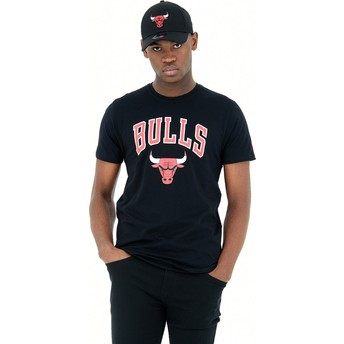 T-shirt à manche courte noir Chicago Bulls NBA New Era