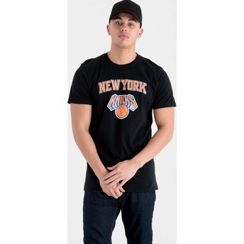 T-shirt à manche courte noir New York Knicks NBA New Era