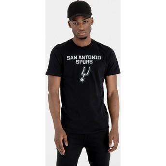 T-shirt à manche courte noir San Antonio Spurs NBA New Era