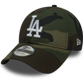 New Era Curved Brim 9TWENTY Essential Packable Los Angeles Dodgers MLB Adjustable Cap camo