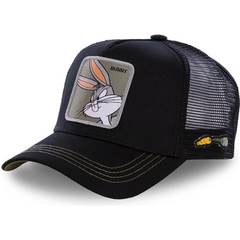 Capslab Bugs Bunny BUN1 Looney Tunes Trucker Cap schwarz