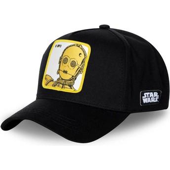 Capslab Curved Brim C-3PO C3P3 Star Wars Snapback Cap schwarz