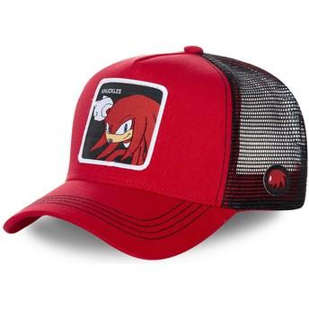 Capslab Knuckles the Echidna KNU Sonic the Hedgehog Trucker Cap rot und schwarz
