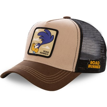 Capslab Road Runner ROA2 Looney Tunes Trucker Cap braun