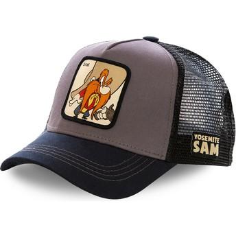 Capslab Yosemite Sam SAM2 Looney Tunes Trucker Cap grau und schwarz
