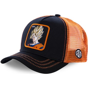 Capslab Son Goku Super Saiyan GO3 Dragon Ball Trucker Cap schwarz und orange