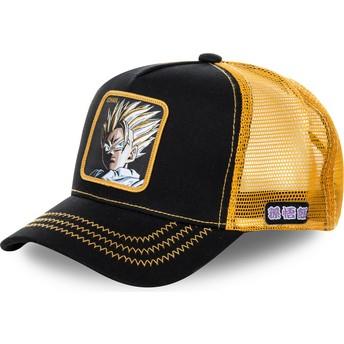 Capslab Son Gohan Super Saiyan 2 DBZSUP Dragon Ball Trucker Cap schwarz und gelb