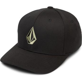 Volcom Curved Brim Dusty grün Full Stone Xfit Fitted Cap schwarz