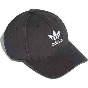 Adidas Curved Brim Washed Adicolor Adjustable Cap schwarz