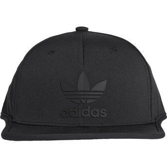Adidas Flat Brim 3 Stripes Snapback Cap schwarz