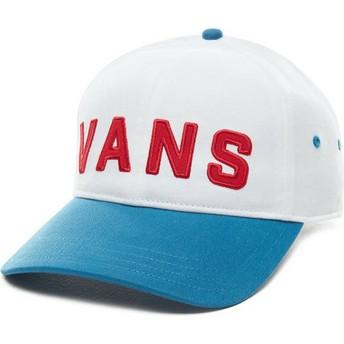 Vans Curved Brim Dugout Adjustable Cap weiß mit blauem Schirm