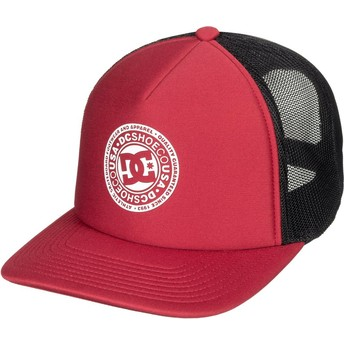 DC Shoes Vested Up Trucker Cap rot und schwarz