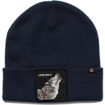 Bonnet bleu marine loup Wolf Man Goorin Bros.