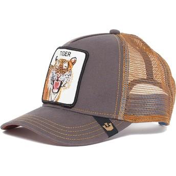 Casquette trucker marron tigre Eye of the Tiger Goorin Bros.
