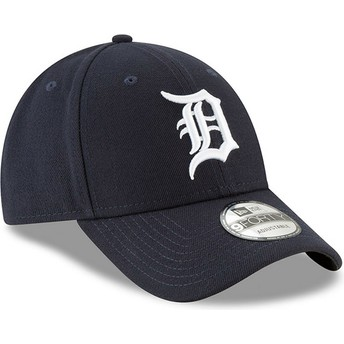 Casquette courbée bleue marine ajustable 9FORTY The League Detroit Tigers MLB New Era