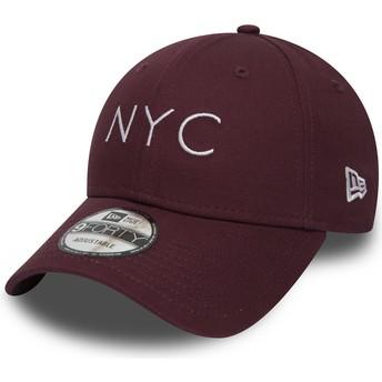 New Era Curved Brim 9FORTY Essential NYC Adjustable Cap braun