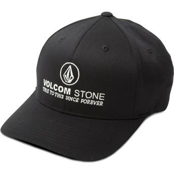 Casquette courbée noire ajustée Super Clean Xfit Volcom