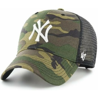 47 Brand Weißes Logo MVP Branson New York Yankees MLB Trucker Cap camo