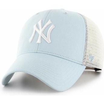 Casquette trucker bleue claire MVP Flagship New York Yankees MLB 47 Brand