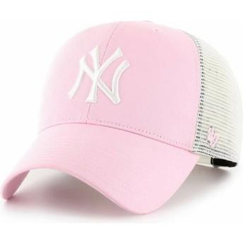 47 Brand MVP Flagship New York Yankees MLB Light Trucker Cap pink