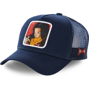 Casquette trucker bleue marine Android C-17 C17A Dragon Ball Capslab