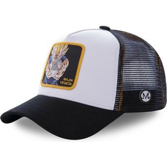 Casquette trucker blanche et noire Majin Vegeta MV4 Dragon Ball Capslab