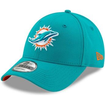 Casquette courbée bleue ajustable 9FORTY The League Miami Dolphins NFL New Era