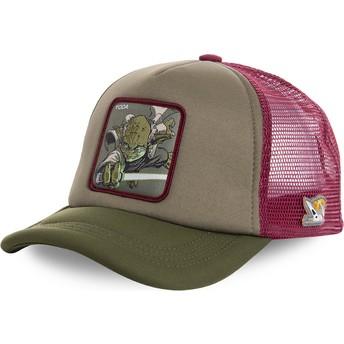 Capslab Yoda YOD4M Star Wars Trucker Cap grün und rot