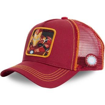 Capslab Iron Man IRO1 Marvel Comics Trucker Cap rot und gelb