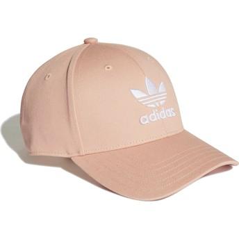 Adidas Curved Brim Trefoil Baseball Adjustable Cap pink