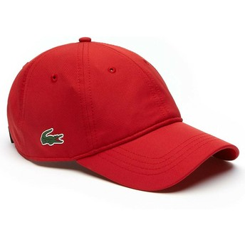 Lacoste Curved Brim Basic Dry Fit Adjustable Cap rot
