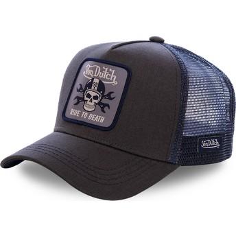 Von Dutch GRN4 Trucker Cap schwarz und blau