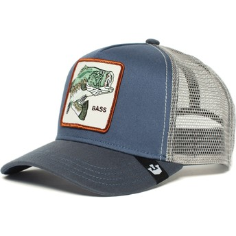Casquette trucker bleue poisson Big Bass Goorin Bros.