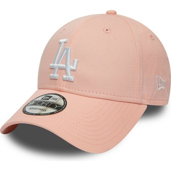 Casquette courbée rose ajustable 9FORTY League Essential Los Angeles Dodgers MLB New Era