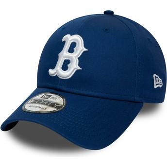 New Era Curved Brim 9FORTY League Essential Boston Red Sox MLB Adjustable Cap blau