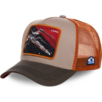 Casquette trucker grise et orange X-wing starfighter LTD5 Star Wars Capslab
