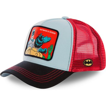 Casquette trucker bleue et rouge Batman & Robin MEM1 DC Comics Capslab