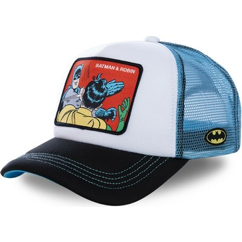 Capslab Batman & Robin MEM4 DC Comics Trucker Cap weiß und blau