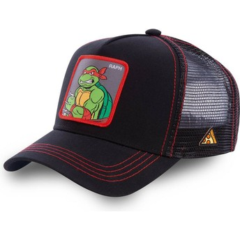 Capslab Raphael RAP Teenage Mutant Ninja Turtles Trucker Cap schwarz