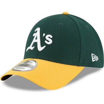 Casquette courbée verte et jaune ajustable 9FORTY The League Oakland Athletics MLB New Era