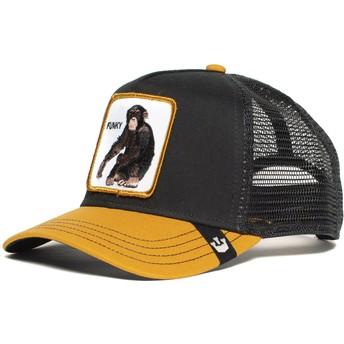 Goorin Bros. Monkey Banana Shake Trucker Cap schwarz und gelb