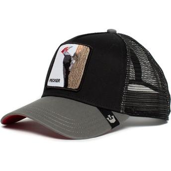 Goorin Bros. Woodpecker Woody Wood Trucker Cap schwarz