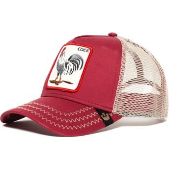 Casquette trucker rouge coq Rooster Goorin Bros.