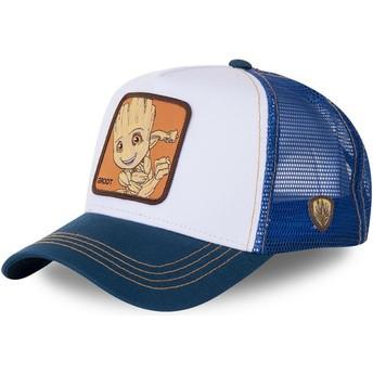 Casquette trucker blanche et bleue Baby Groot BGR2 Marvel Comics Capslab