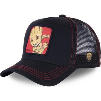 Capslab Baby Groot BGR3 Marvel Comics Trucker Cap schwarz