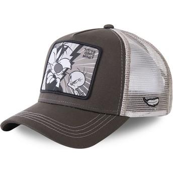 Capslab Sylvester Vs Tweety TVG2 Looney Tunes Trucker Cap grau