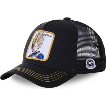 Casquette trucker noire Vegeta Super Saiyan VE4 Dragon Ball Capslab