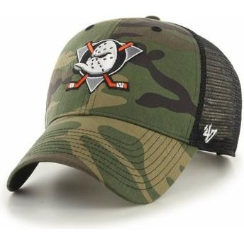 47 Brand MVP Branson Anaheim Ducks NHL Camouflage Trucker Hat