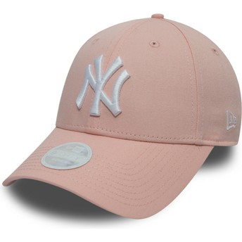 Casquette courbée rose ajustable 9FORTY League Essential New York Yankees MLB New Era