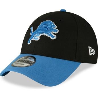 Casquette courbée noire ajustable 9FORTY The League Detroit Lions NFL New Era